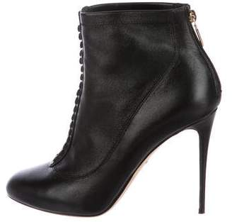 Dolce & Gabbana Leather Round-Toe Ankle Boots
