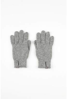 Johnstons of Elgin Light Grey Button Loop Womens Cashmere Gloves