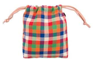 Clare Vivier Leather-Trimmed Plaid Handle Bag
