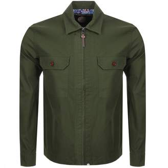 Pretty Green Overshirt Jacket Khaki