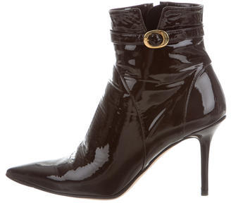 Jimmy Choo Jimmy Choo Patent Leather Ankle Boots