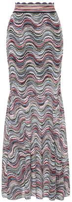 Missoni Striped metallic skirt