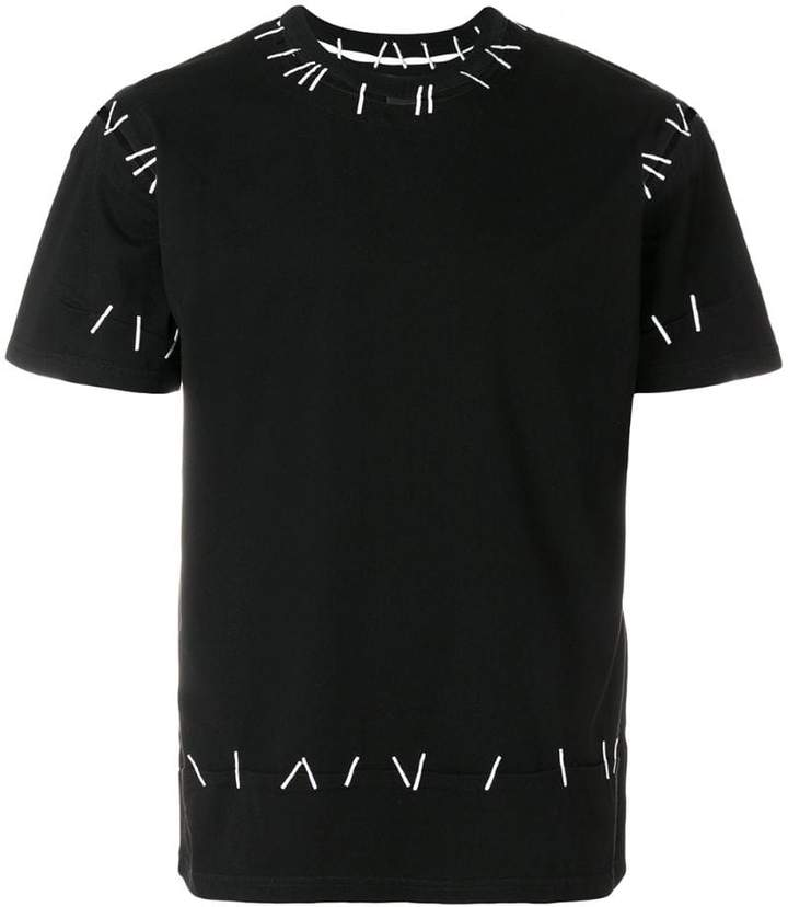 Pin embroidered tee