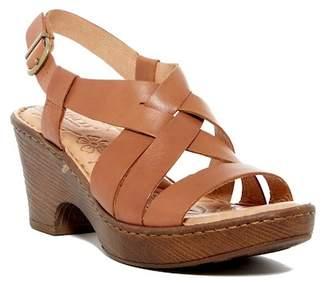Børn Carmo Leather Slingback Platform Sandal