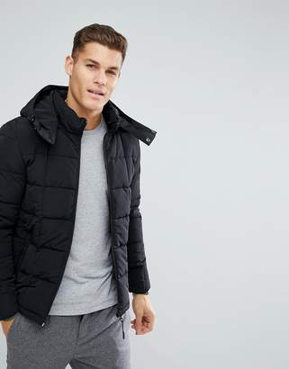 Esprit Quilted Jacket In Black