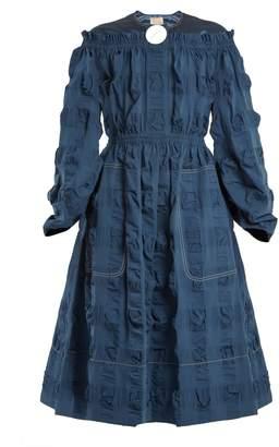 Roksanda Tora satin-yoke cotton-blend seersucker dress