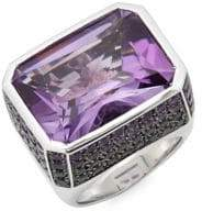 Roberto Coin Amethyst and 18K White Gold Colored Dreams Ring