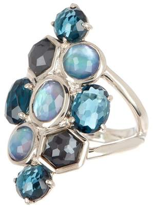 Ippolita Sterling Silver Rock Candy Cluster Semi-Precious Stone Ring - Size 7