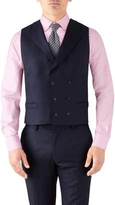 Charles Tyrwhitt Navy Adjustable Fit Italian Twill Luxury Suit Wool Vest Size w46