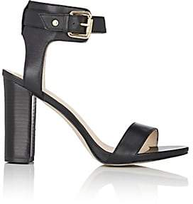 Barneys New York WOMEN'S GINA LEATHER ANKLE-STRAP SANDALS-BLACK SIZE 9