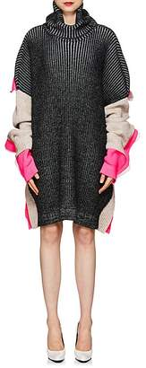 Balenciaga Women's Rib-Knit Wool-Blend Sweaterdress