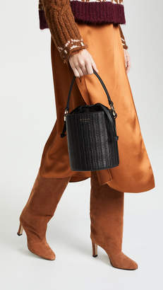 Meli-Melo Santina Mini Woven Bucket Bag