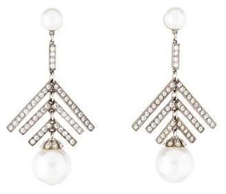 Ben-Amun Faux Pearl & Crystal Bubble Drop Earrings