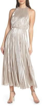 Jill Stuart Pleated Metallic Dress