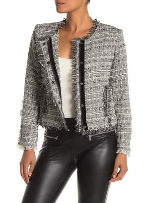 Bagatelle Boucle Knit Snap Button Jacket