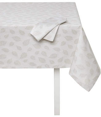 """Mode Living Ivy Tablecloth with Metallic Leaves, 66"""" x 90"""""""