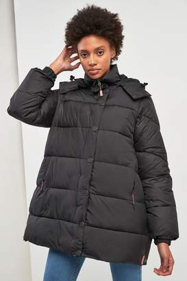 Hunter Womens Women's Original Black Padded Raincoat - Black