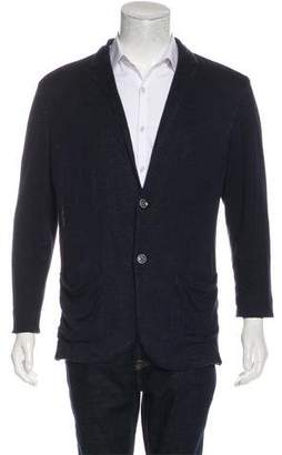 John Varvatos Linen-Blend Knit Cardigan