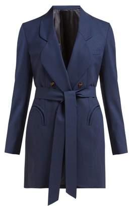 BLAZÉ MILANO Tonino Double Breasted Houndstooth Wool Blazer - Womens - Navy Multi