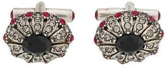 Alexander McQueen crystal embellished cufflinks