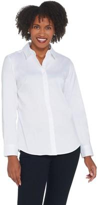 Denim & Co. Wrinkle Resistant Button Front Shirt