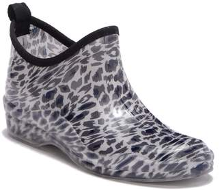 Capelli of New York Leopard Print Rubber Ankle Rain Boot