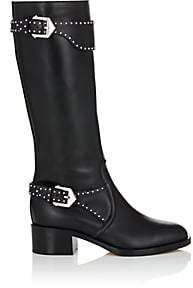 Givenchy Women's Studded-Strap Leather Knee Boots - Black