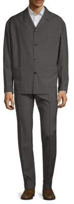 Valentino Notch Collar Wool Suit