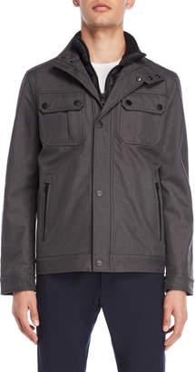 MICHAEL Michael Kors Softshell Bibbed Hipster Coat