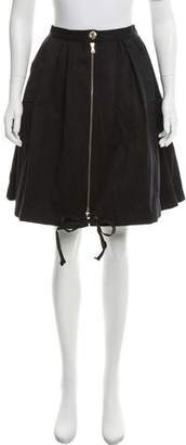 RED Valentino Knee-Length Zip-Up Skirt