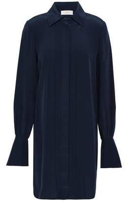Tory Burch Silk Crepe De Chine Mini Shirt Dress