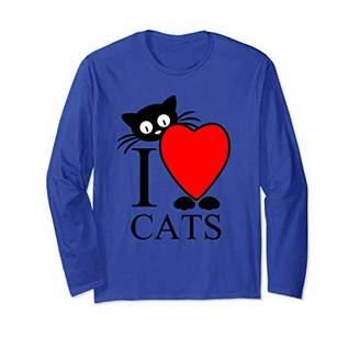 I love cats - cat lover heart long sleeve t-shirt