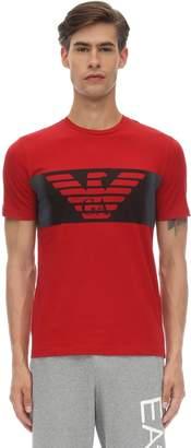 Emporio Armani Ea7 Train Logo Cotton T-shirt