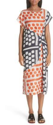 Zero Maria Cornejo Dot Print Linen Dress