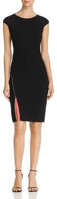 Emporio Armani Zipper-Detail Slit Dress