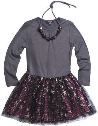 Imoga Samantha Dress & Necklace Set (Little Girls & Big Girls)