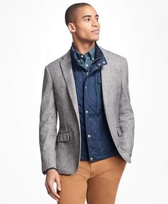 Brooks Brothers Herringbone Cotton-Wool Sport Coat