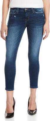 Flying Monkey Med Wash Mid-Rise Cropped Jeans