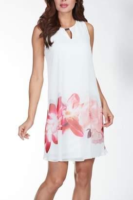 Frank Lyman White Coral Dress