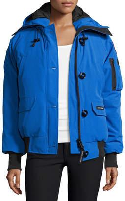 Canada Goose PBI Chilliwack Hooded Fur-Trim Parka, Royal Blue