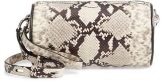 Rebecca Minkoff Python Embossed Leather Barrel Crossbody Bag