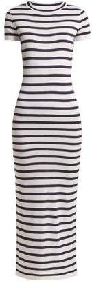 Paco Rabanne Striped Jersey Dress - Womens - Navy White