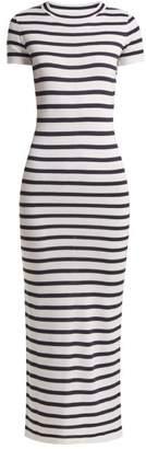Paco Rabanne Striped Jersey Dress - Womens - Navy White