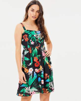 Dorothy Perkins Tropical Lace Front Dress