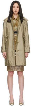 Burberry Beige Car Rain Coat