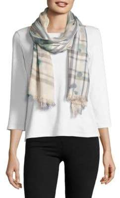 Lord & Taylor Fraas Plaid Patterned Scarf $48 thestylecure.com