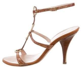 Giuseppe Zanotti Crocodile Ankle Strap Sandals