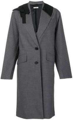 Miu Miu contrast collar coat