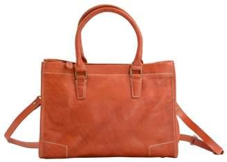 EAZO - Handmade Soft Leather Crossbody Brief Bag In Brown