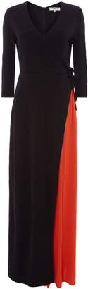Issa Scarlett Bi Colour Wrap Maxi Dress